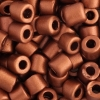 Tube Beads 5.7mm with 2mm Hole Metallic Copper Dyed